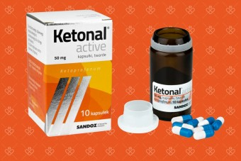 Lek przeciwbólowy Ketonal Active, 50 mg, 10 kapsułek