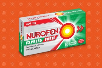 Nurofen Express Forte 400 mg ibuprofenu, kapsułki, 10 sztuk