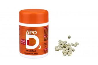 ApoD3 Max, witamina D3 4000 j.m., 60 kapsułek