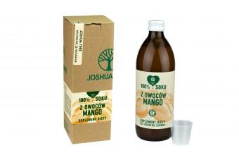 Mango sok, pojemność 500 ml, bez dodatków cukrów i konserwantów, producent Joshua