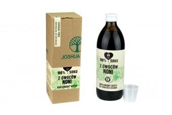 Naturalny sok z owoców noni, butelka 500 ml, producent Joshua bez konserwantów i cukrów
