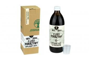 Sok z liści pokrzywy bez cukrów, 500 ml, Joshua