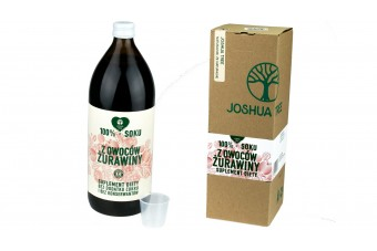 Naturalny sok żurawina bez cukru, 500 ml, Joshua
