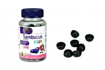 Sambucus Kids, Żelki od 3. roku życia, 60 sztuk
