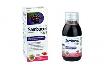Sambucus Kids, Syrop na odporność, 120 ml, Sirowa