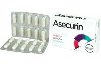 Asecurin, 20 kapsułek, probiotyk, prebiotyk, laktoferyna