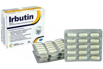 Irbutin, preparat stosowany przy IBS, zaburzeniach czynnościowych przewodu pokarmowego, uchyłkach jelita, 60 kapsułek