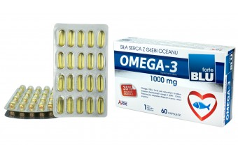 Omega-3 Blu Forte, 1000 mg, 60 kapsułek, 1 kapsułka dziennie, producent Avec Pharma