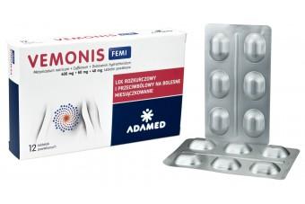 Vemonis Femi, 12 tabletek, na bóle miesiączkowe