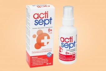 Actisept, spray pielęgnacyjny o właściwościach antybakteryjnych, 50 ml, od pierwszego dnia życia