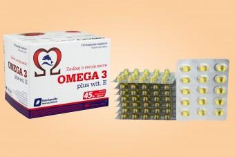 Olimp Omega-3 plus wiamina E, 120 kapsułek, 45% kwasów tłuszczowych omega-3