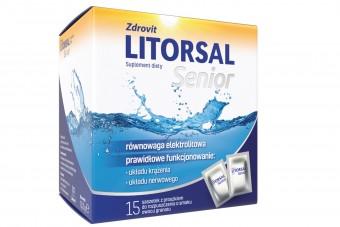 Litorsal Senior, elektrolity w saszetkach dla seniorów, 15 sztuk