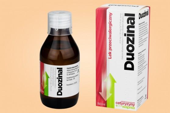 Duozinal, syrop przeciwalergiczny o smaku waniliowym, 150 ml, dla dzieci od 2 lat, młodzieży i dorosłych