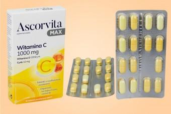 Ascorvita MAX, 30 tabletek, witamina C 1000 mg, wit. D, cynk