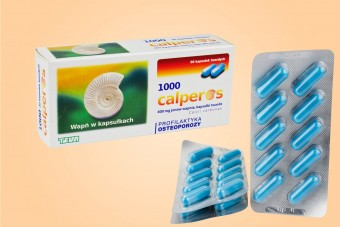 Calperos 1000 mg, wapń na osteoporozę, 30 kapsułek