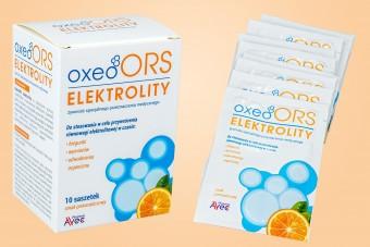OxeoORS, elektrolity dla dzieci i dorosłych, 10 saszetek, smak pomarańczowy
