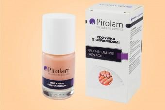 Odżywka do paznokci z ceramidami Pirolam, 11 ml, na kruche i łamliwe paznokcie