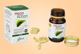Hepa Action Advanced, na wątrobę, naturalny skład, bez glutenu, 30 kapsułek, Aboca