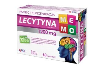 Lecytyna na pamięć, Lectyna MEMO, 1200 mg, 60 kapsułek