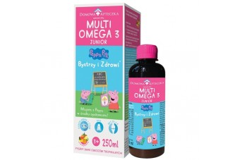MultiOmega 3 Junior, owoce tropikalne, syrop z kwasami omega 3 dla dzieci, 250 ml