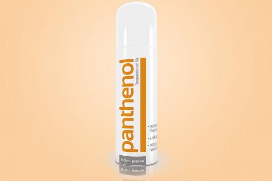 Panthenol, pianka,150 ml, pantenol spray, 5% dekspantenolu, na oparzenia słoneczne