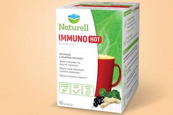 Naturell Immuno Hot, na odporność i zmęczenie, 10 saszetek, pelargonia, czarny bez