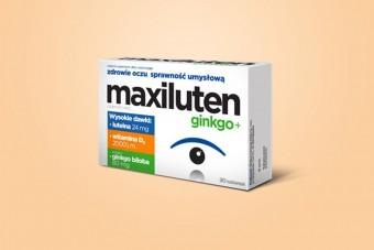 Maxiluten GINKGO+, tabletki na oczy i koncentrację, 30 tabletek, zdrowe oczy i sprawność umysłowa