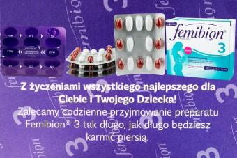 Femibion 3 Karmienie piersią, 28 tabletek + 28 kapsułek, witaminy i DHA