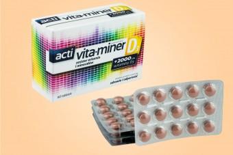 acti Vita-Miner D3, 60 tabletek, witaminy Vita miner D3, witaminer D3
