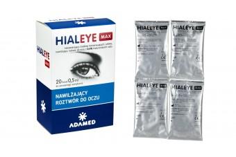 Hialeye Max 0,4%, krople nawilżające do oczu w postaci pojedynczych ampułek, 20 minimsów