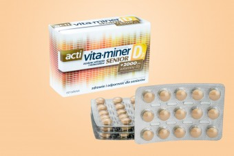 acti Vita-Miner Senior D3, 60 tabletek, witaminy dla seniorów witaminer, vita miner z d3