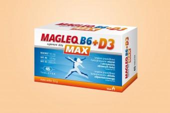 Magleq Max D3, 45 tabletek, magnez + witamina D, cytrynian magnezu