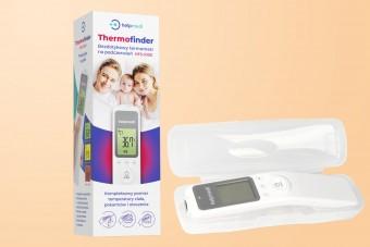 Bezdotykowy termometr na podczerwień Thermofinder HFS-1000, termometr do jedzenia i kąpieli, Help Medi