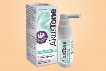 Akustone, spray do czyszczenia uszu, 15 ml, korki w uszach, krople na zatkane uszy