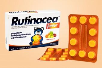 Rutinacea Junior, dla dzieci, 20 tabletek do ssania o smaku owocowym, na wzmocnienie odporności