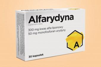 Alfarydyna, 30 kapsułek, kwas alfaliponowy i urydyna