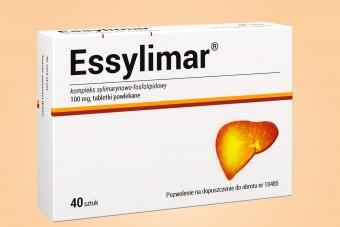 Essylimar, tabletki na wątrobę, połączenie fosfolipidów i sylimaryny, 40 tabletek, Herbapol