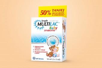 Multilac Baby, synbiotyk w kroplach, od 2. miesiąca życia, 10 ml