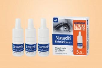 Starazolin HydroBalance PPH, krople nawilżające do oczu, 3 x 5 ml, duże opakowanie