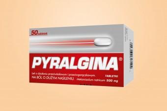 Pyralgina, tabletki na wysoką gorączkę i silny ból, duże opakowanie 60 sztuk