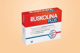 Ruskolina Plus, ruszczyk i kasztanowiec, na krążenie żylne, 30 kapsułek