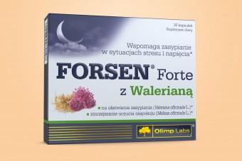 Olimp Forsen Forte z Walerianą, 30 kapsułek, tabletki na stres, napięcie i sen