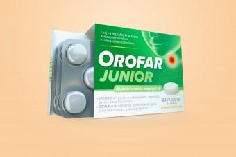 Orofar Junior, na ból gardła u dzieci, od 6 lat, 24 tabletki do ssania