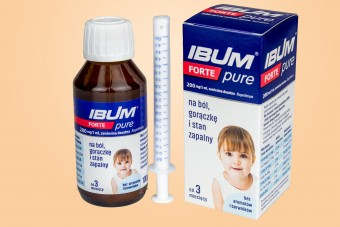 IBUM FORTE PURE, syrop na gorączkę u dzieci, ibuprofen, długo ważny po otwarciu, Hasco