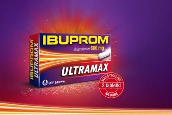 Ibuprom ULTRAMAX, najwyższa dawka ibuprofenu 600 mg, 10 tabletek