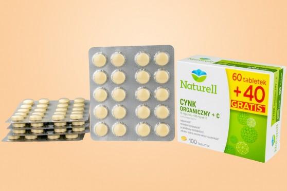 Naturell Cynk organiczny + C, 100 tabletek do ssania Instant
