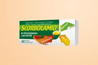 Scorbolamid, tabletki na przeziębienie, gorączkę, ból głowy, 40 tabletek, duże opakowanie