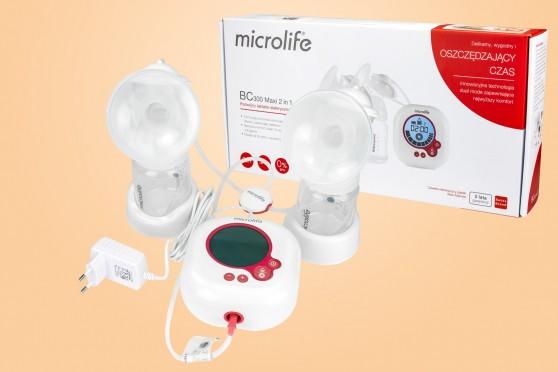 Microlife BC 300 Maxi 2w1, laktator na dwie piersi, elektryczny