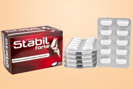 Stabil Forte, tabletki na stawy, glukozamina i chondroityna, chrząstka rekina, 60 sztuk