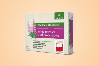 Wierzbownica drobnokwiatowa, zioła na prostatę, 60 tabletek, Colfarm